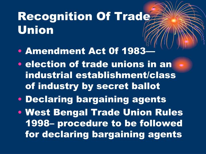 Recognition Of Trade Union