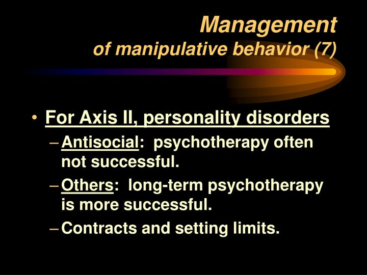 manipulative behavior Such enablers may allow themselves to be manipulated, which only encourages the behavior to continue if this same employee suddenly stops enabling the manipulator, conflict will most likely ensue finally, there are those individuals traumatized from manipulative tactics their plight can lead to high.