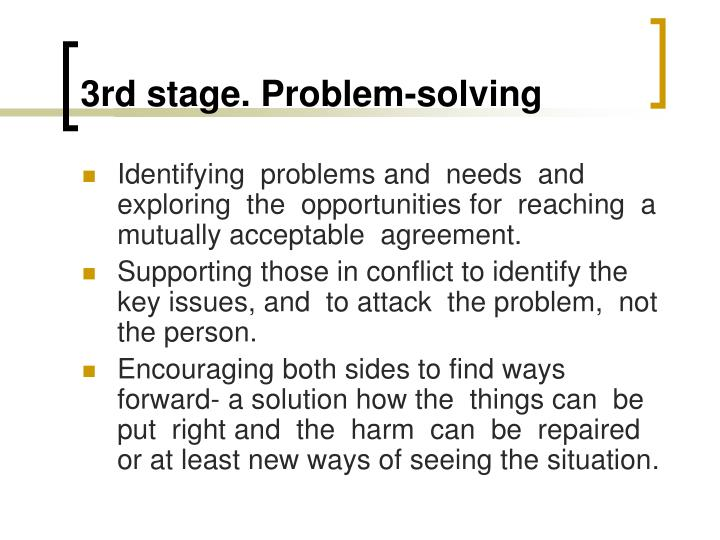 3rd stage. Problem-solving
