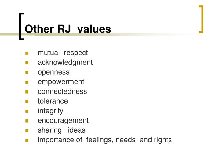 Other RJ  values