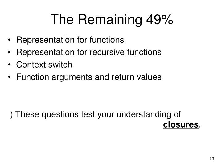 The Remaining 49%