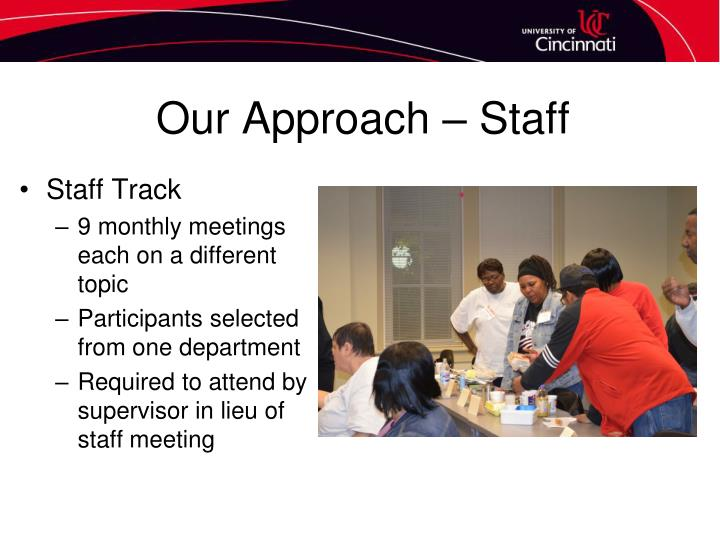Our Approach – Staff