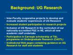 background ug research