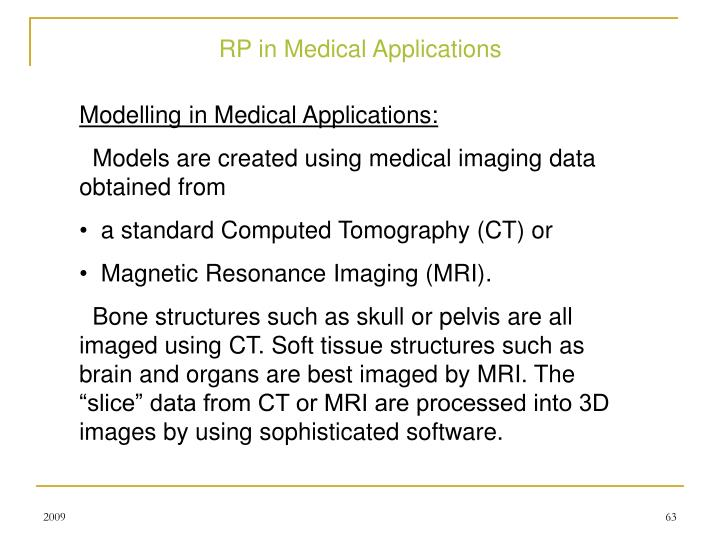 RP in Medical Applications