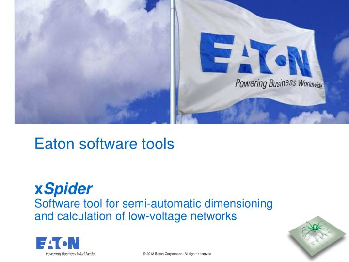 PPT - Eaton software tools PowerPoint Presentation - ID:4505624