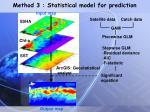 method 3 statistical model for prediction