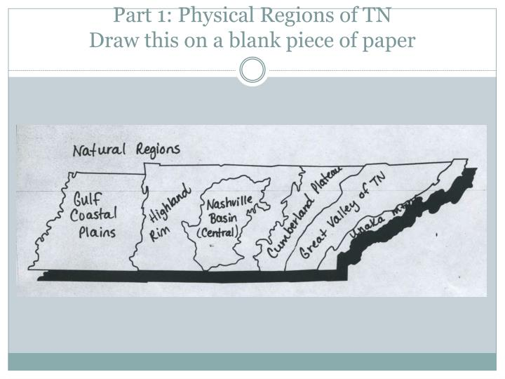 Part 1: Physical Regions of TN