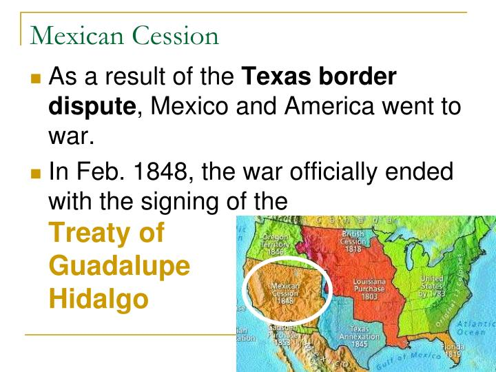 an analysis of the treaty of guadalupe hidalgo between the united states and mexico The annexation of texas, the mexican-american war, and the treaty of guadalupe-hidalgo, 1845-1848 during his tenure, us president james k polk oversaw the greatest territorial expansion of the united states to date.