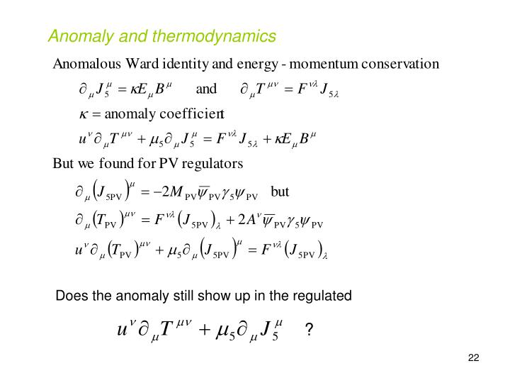 Anomaly and thermodynamics