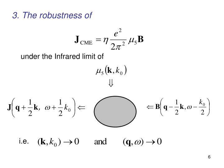 3. The robustness of