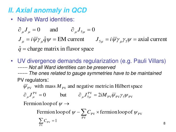 II. Axial anomaly in QCD