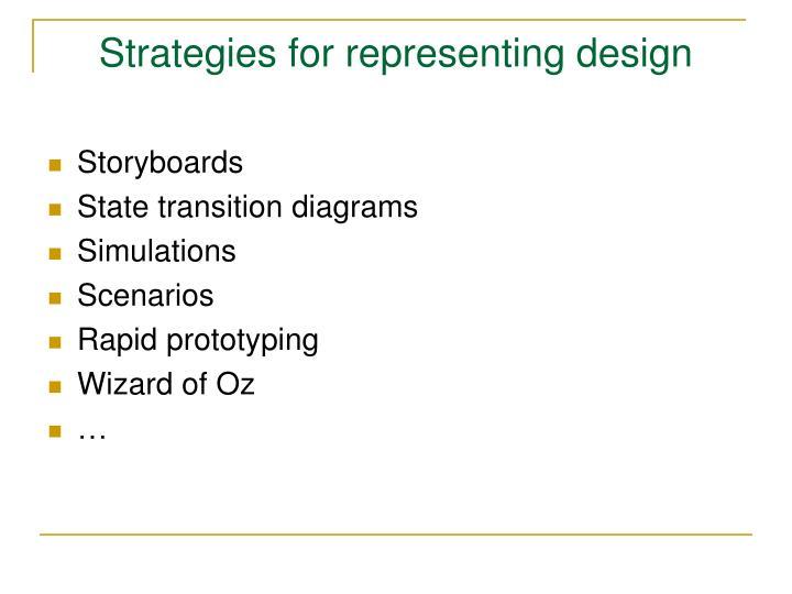 Strategies for representing design