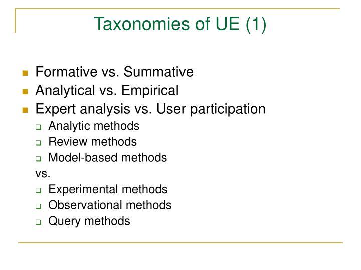 Taxonomies of UE (1)