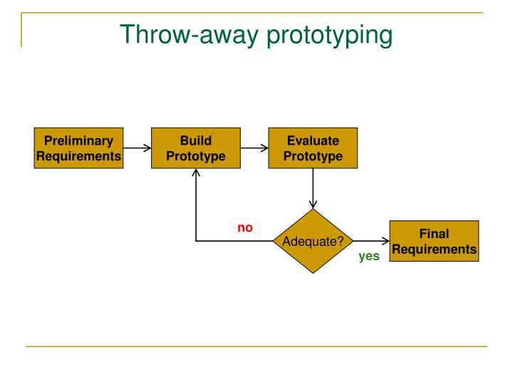 Throw-away prototyping