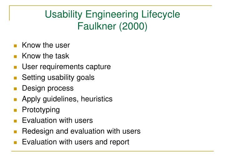 Usability Engineering Lifecycle
