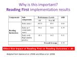 why is this important reading first implementation results