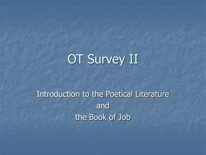 survey on the book of job Larrimore provides an elegant and insightful survey of the ways that the book of job was transmitted and understood in writing, art, and interpretation.