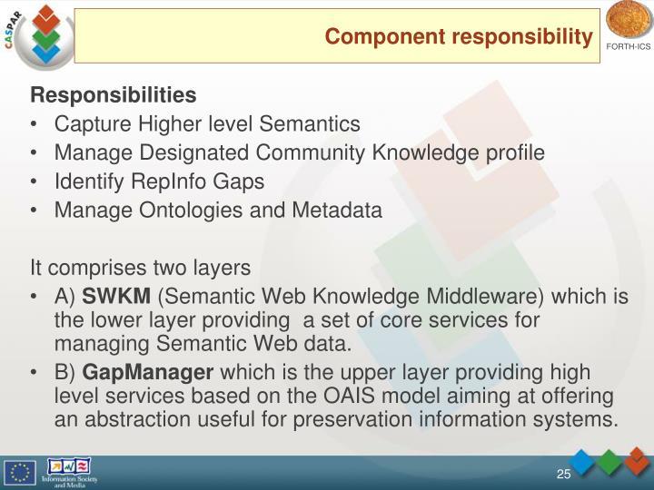 Component responsibility