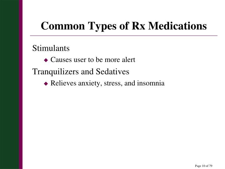 Common Types of Rx Medications