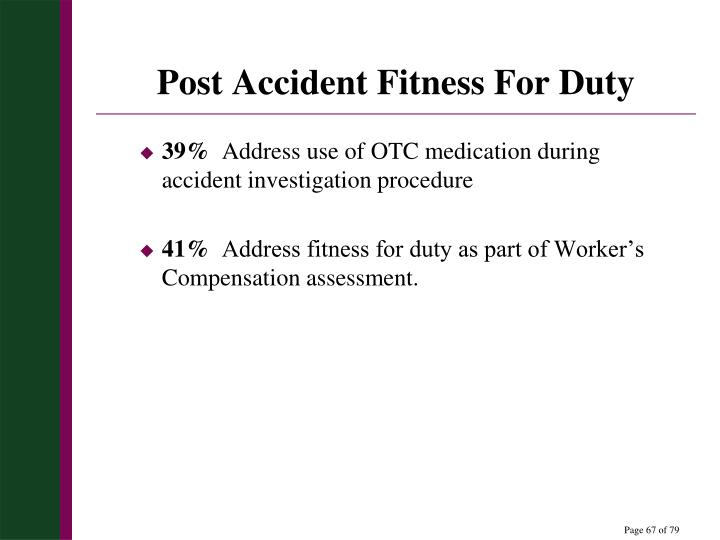 Post Accident Fitness For Duty