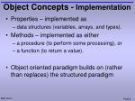 object concepts implementation