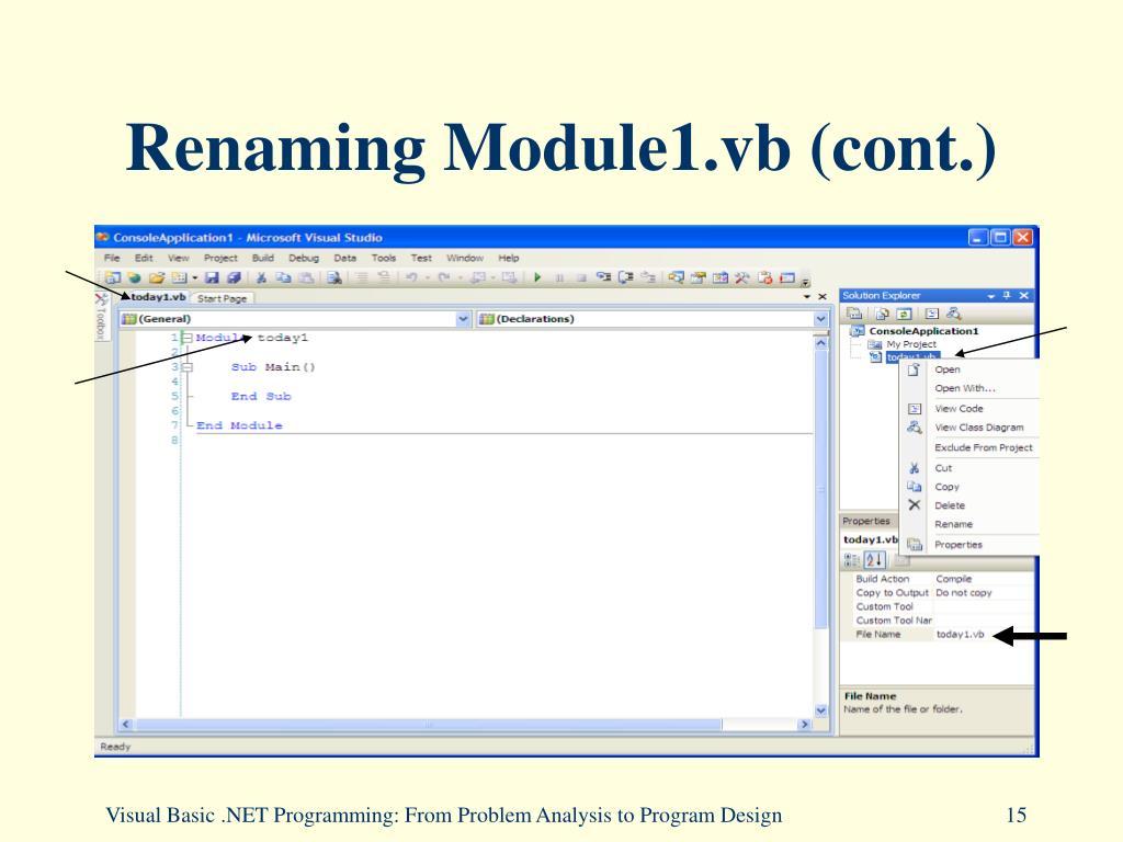 PPT - Chapter 2: The Visual Studio  NET Development