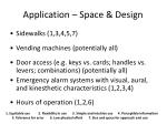 application space design