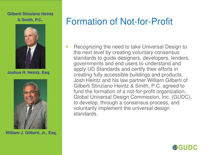Formation of Not-for-Profit