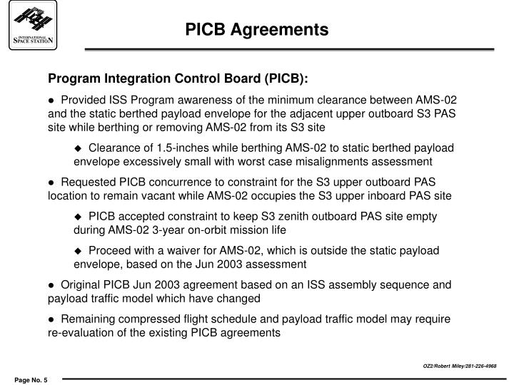 PICB Agreements