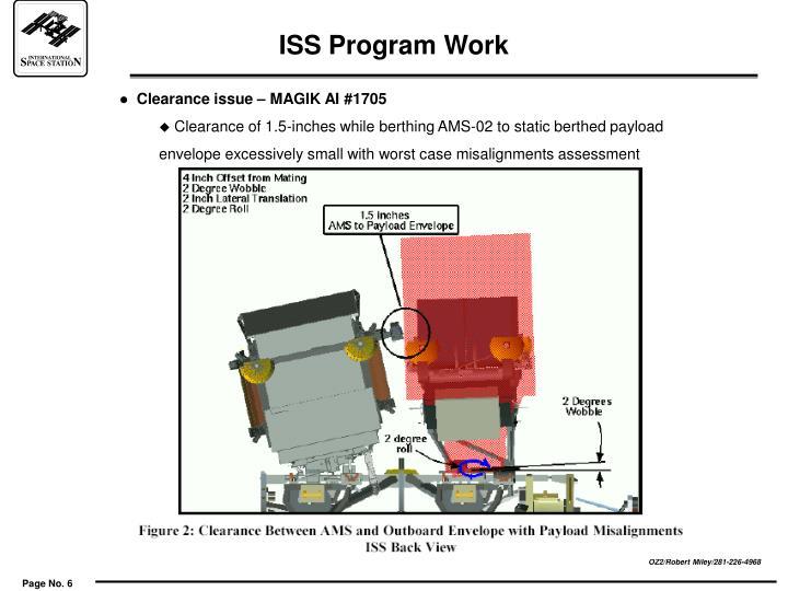 ISS Program Work