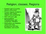 religion classes regions