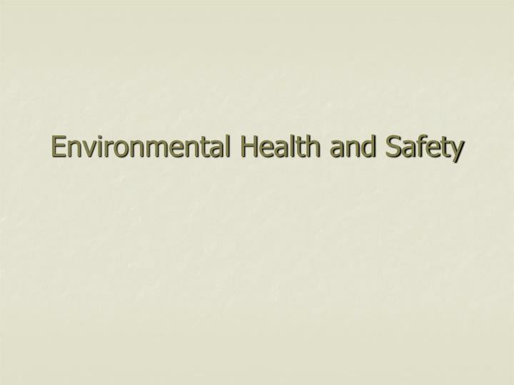 environmental health and safety n.