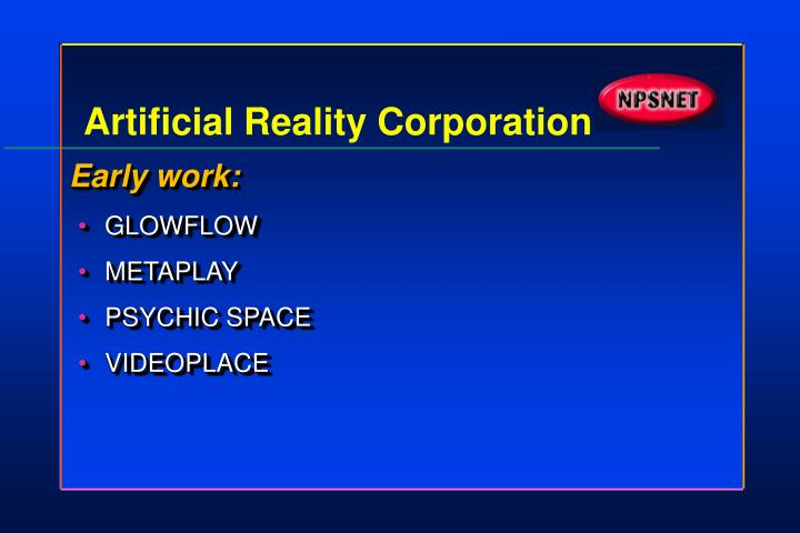 Artificial reality corporation1