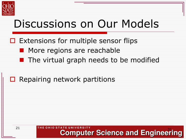 Discussions on Our Models