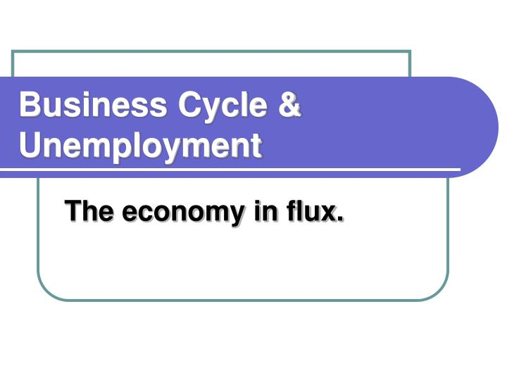 Business cycle unemployment