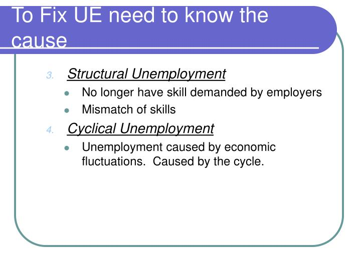 To Fix UE need to know the cause