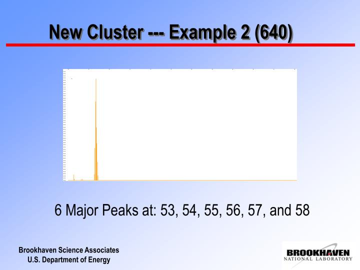 New Cluster --- Example 2 (640)