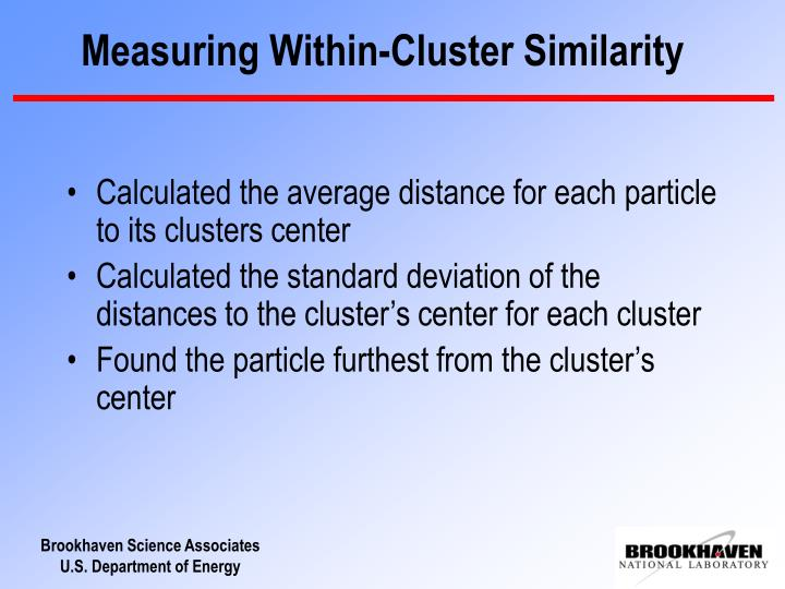 Measuring Within-Cluster Similarity