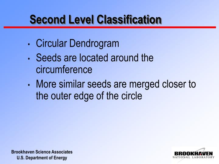 Second Level Classification