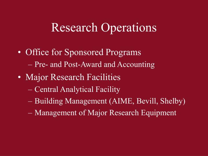 Research Operations