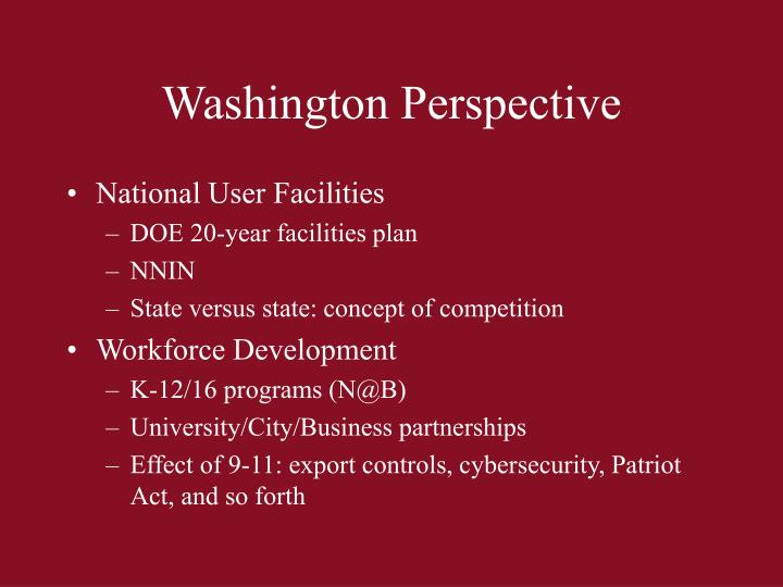 Washington Perspective