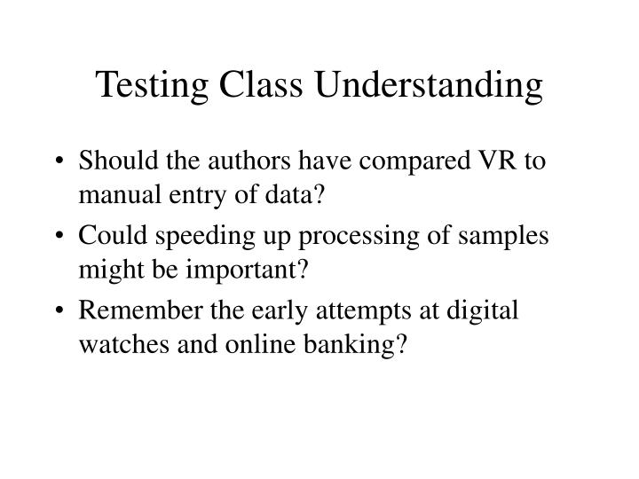 Testing Class Understanding
