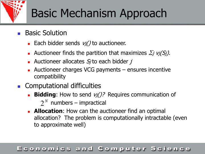 Basic Mechanism Approach