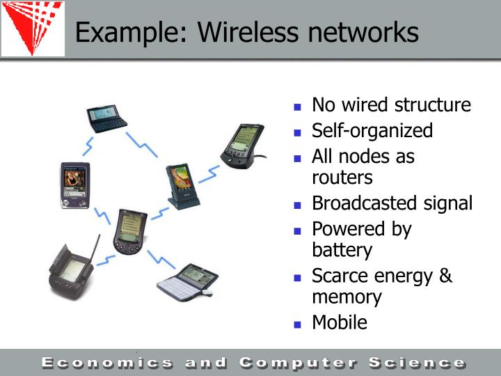 Example: Wireless networks