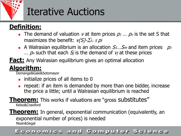 Iterative Auctions