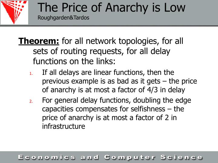 The Price of Anarchy is Low