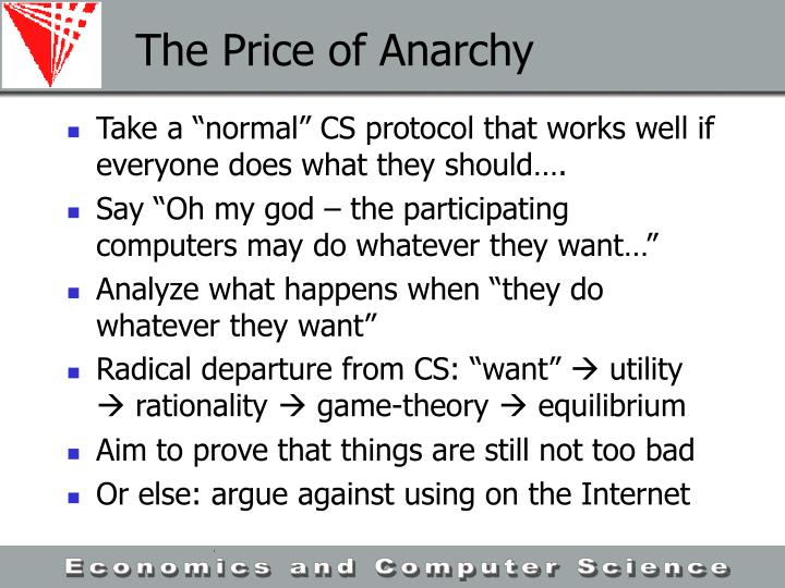 The Price of Anarchy