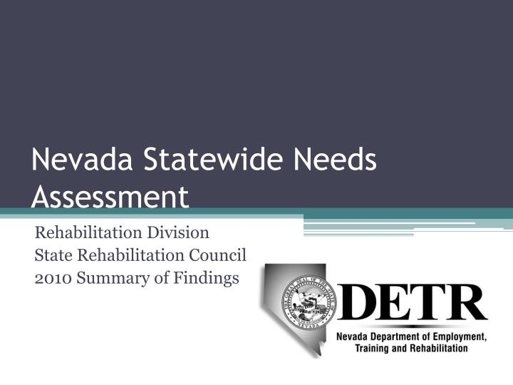 nevada statewide needs assessment n.