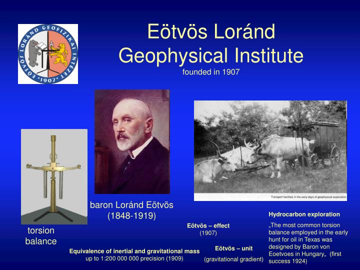 e tv s lor nd geophysical institute founded in 1907