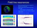 field line resonances